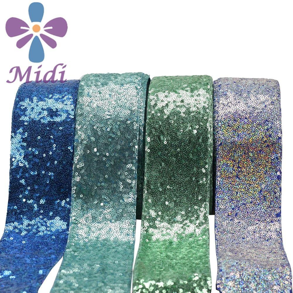 Wholesale Stock Ribbon 3 inch Sequin Ribbon Trim