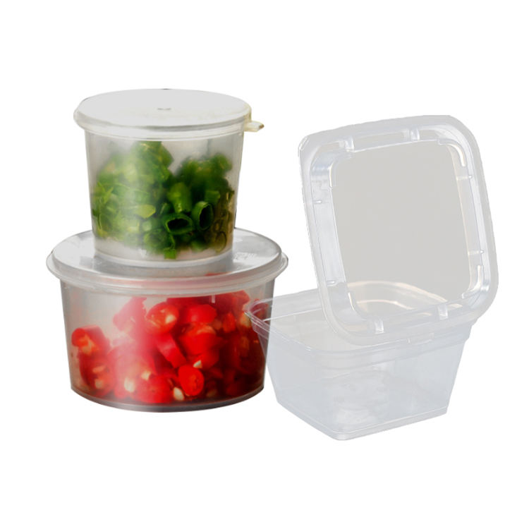 Hot sale cheap price take away fast food plastic container box Sauce Condiment Souffle Dressing Portion Sampling Mini Plastic Cu