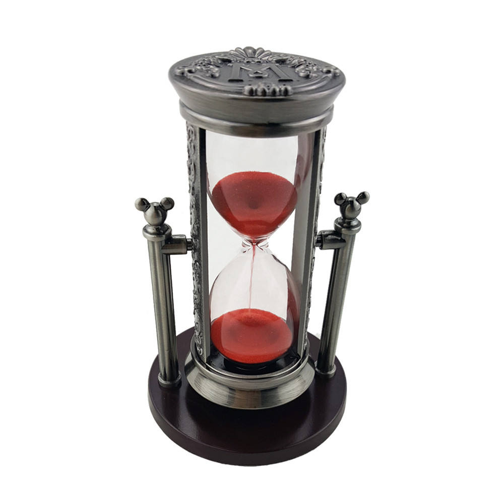 Red sand zinc alloy hourglass rich color sand OEM letters sand clock Invert hourglass
