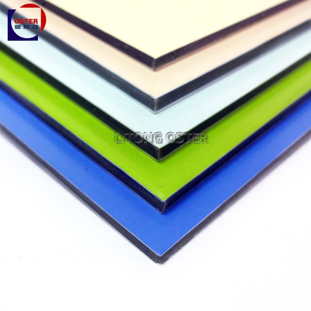 4mm green PVDF paint acp/acm aluminum composite panel