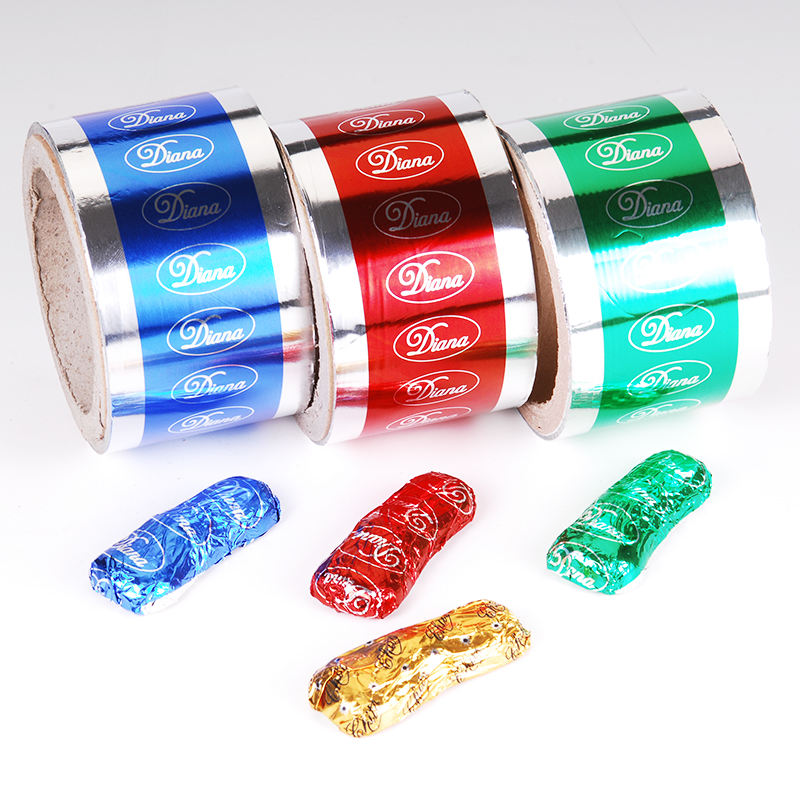 Chocolate Wrapping Paper Aluminum Foil Color For Food Packaging