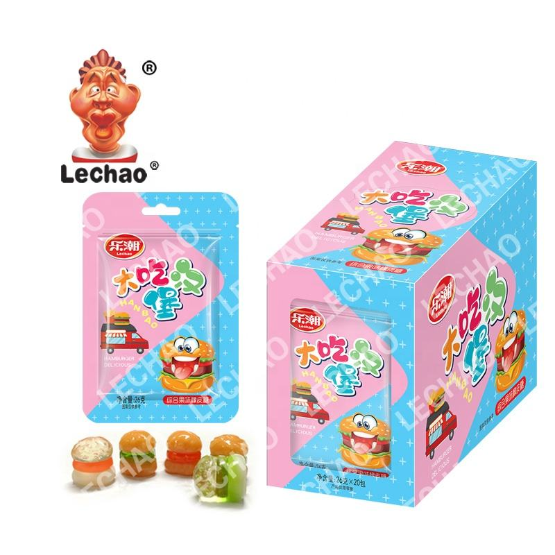4D Hamburger gummy candy Fruit Sweets Soft Candy fancy sweets candy