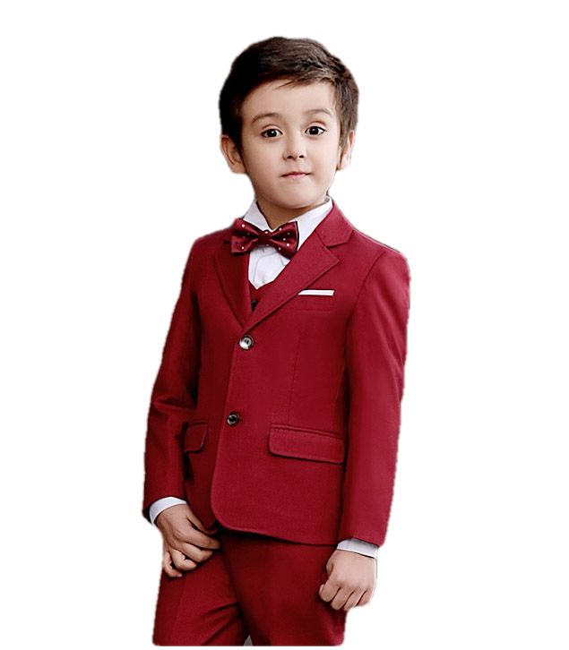Kid's red blazer suit with pants