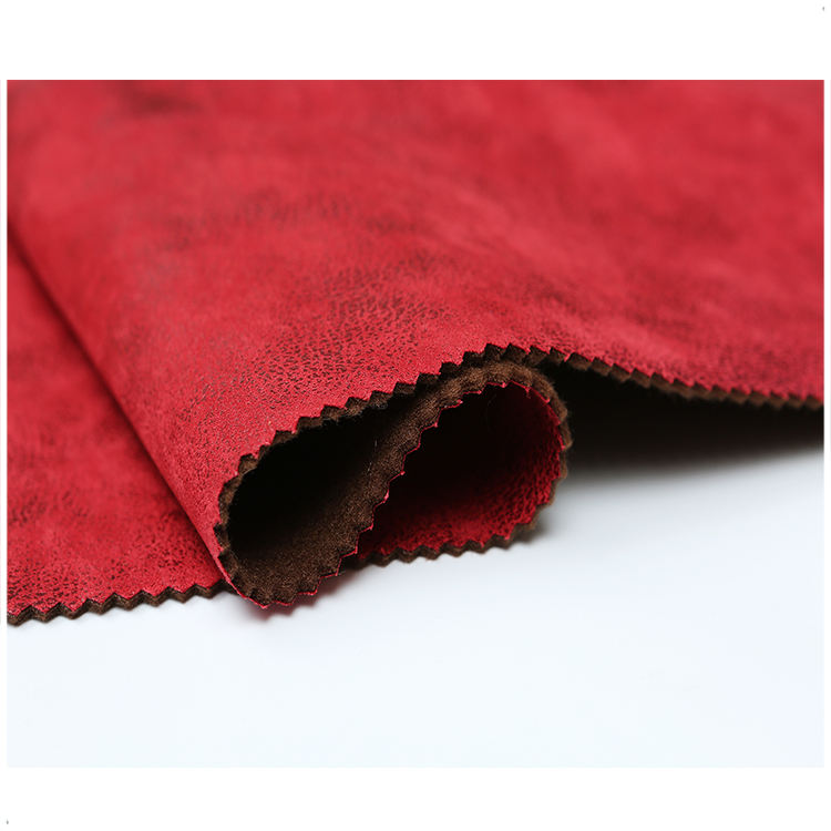 100% polyester material bronzed suede for home sofa textile fabric