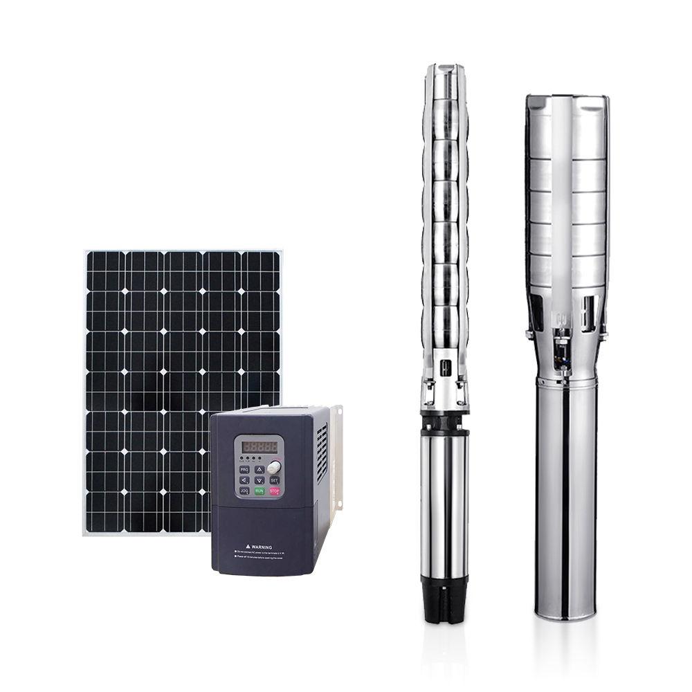 6 inch 20m 310m head high pressure solar water pump