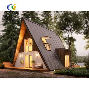 Prefab huts resort cottage home garden chalet log cabin kits movabe wood mini houses