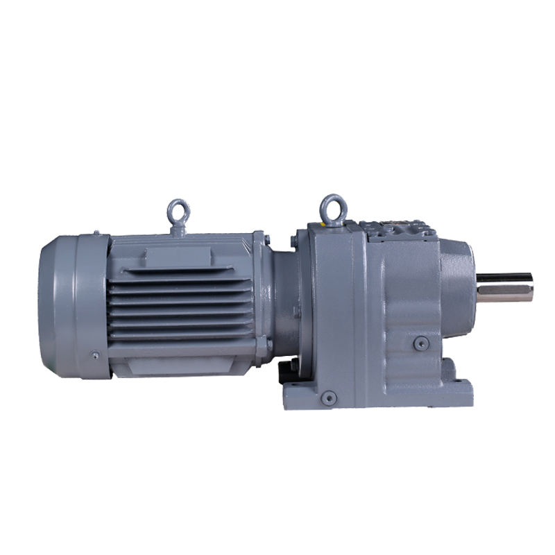 R series bevel gear reducer horizontal reducer R77 speed reducer with hard tooth face gearrbox