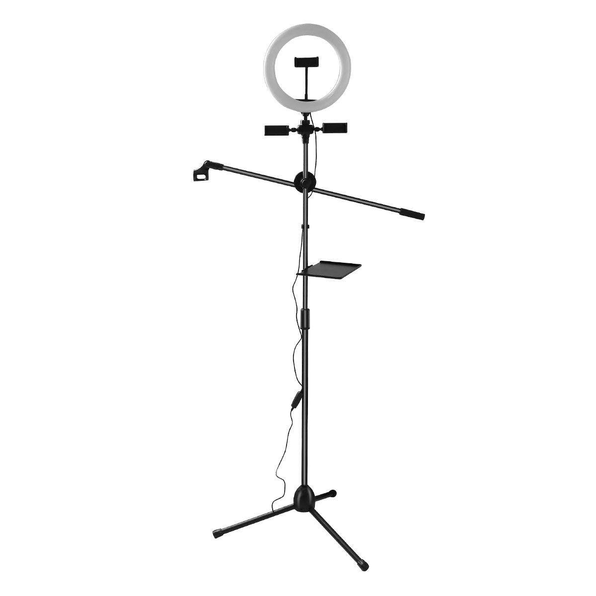 Dimmable LED Light Ring Photography Live Show Studio 6500 18k Light Up Circle selfie With Tripod Stand And Mobilephone Holder