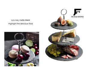 China factory directly supplying slate wedding cake stands