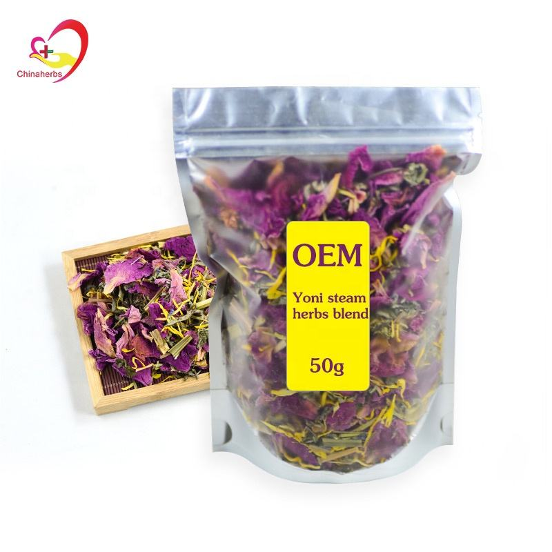 50g weight Private label Best Female Vaginal Cleaning Organic Yoni Steam Herbs Vagina Steam
