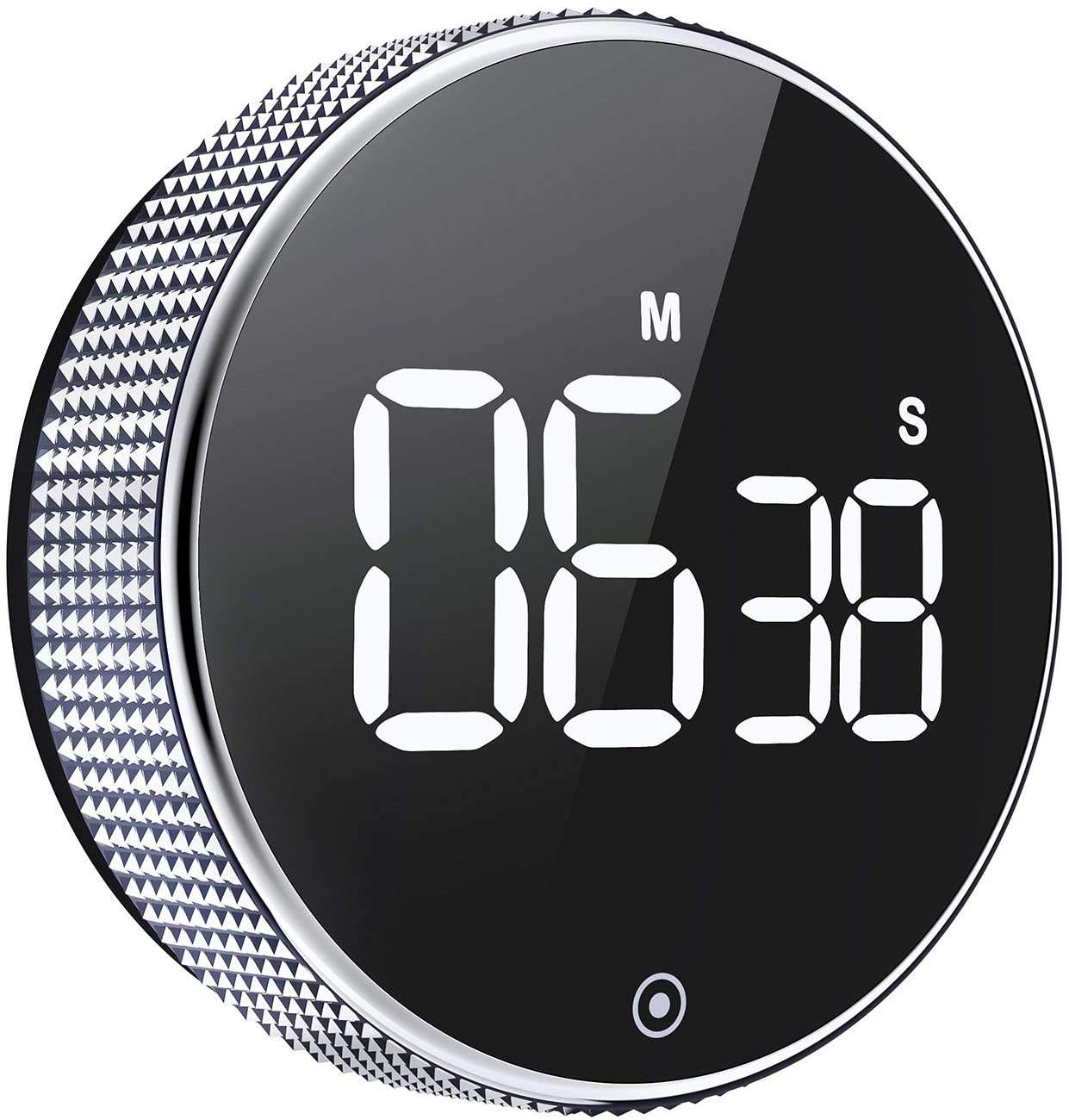 NEW Arrival Circular Knob Loud Digital Kitchen Countdown Timer Magnetic LCD Large Display Countdown Timer