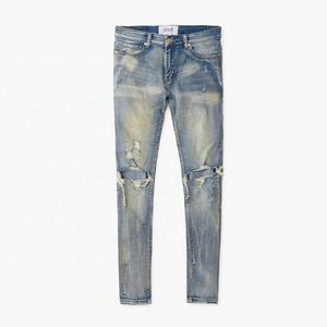 DiZNEW High Quality Jeans Man Slim Fit Distressed Jeans For Men