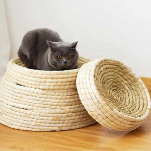 handmade bird nest pigeon nest cat bowl shaped pet woven straw nest bed