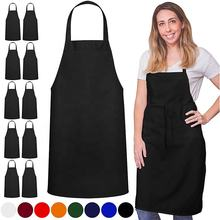 Custom Logo Cotton Polyester Chef Cooking Aprons Kitchen Apron