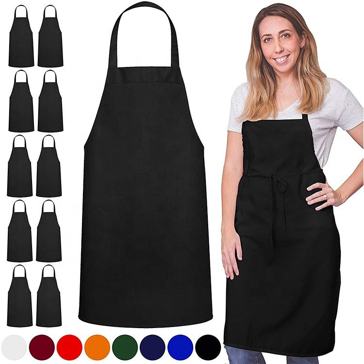 Custom Logo Cotton Polyester Chef Cooking Kitchen Apron