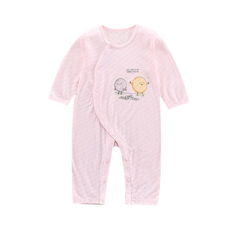 Fashion Baby Rompers Long Sleeves Bamboo Fabric Newborn Cartoon Infant Clothes