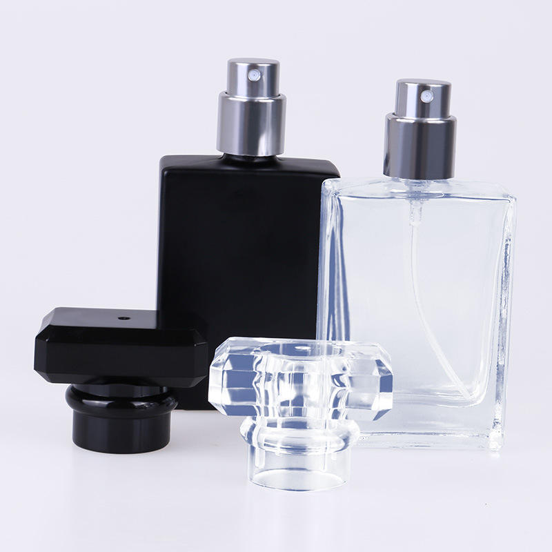 Screw Cap [ Perfume Glass Bottle ] Perfumeglassglassglass Unique Perfumes Bottles Glass 30ml Luxury Unique Clear Shape Perfume Glass Bottle