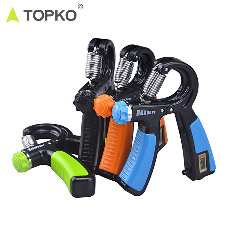 TOPKO new arrival digital screen counter hand exercise trainer hand grip