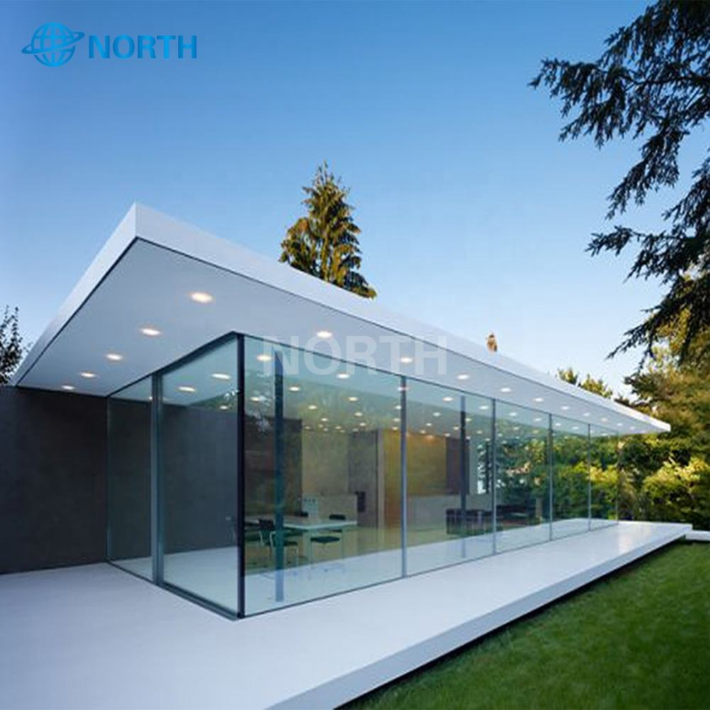 Cina Populer Ukuran Besar Tempered Sun Glass House Sliding Partition