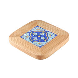 Japanese retro insulation pad household solid wood tile pot cushion
