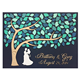 Custom Bride and Groom 3D Wedding Guest Book Alternative Guest Book Personalized Name and Date Wood Rustic Wedding Sign Book