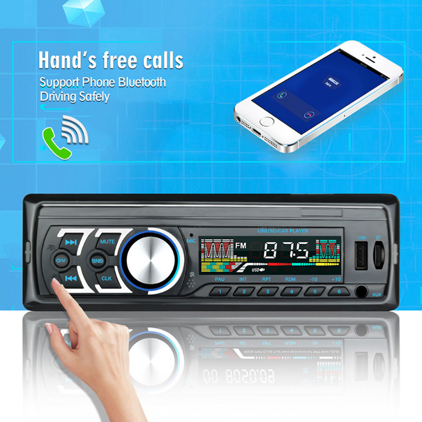 Car mp3 player 12V Car Radio Stereo Player Bluetooth V2.0 Phone AUX-IN MP3 FM/USB/1 Din/Remote Control Car Audio