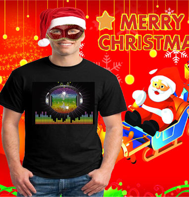High quality custom light up t shirt sound activated led t shirt Lighting Up Tshirt