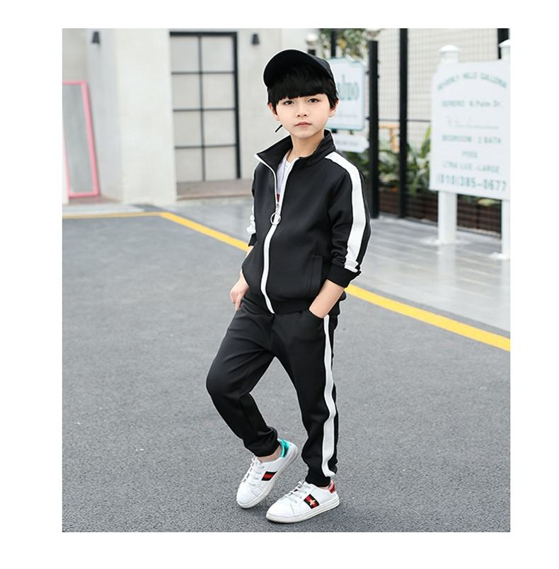 Wholesale Kids Autumn Long Sleeve Outdoor Sports Training Suits Children Quick Dry Soccer polyester Tracksuits For kids