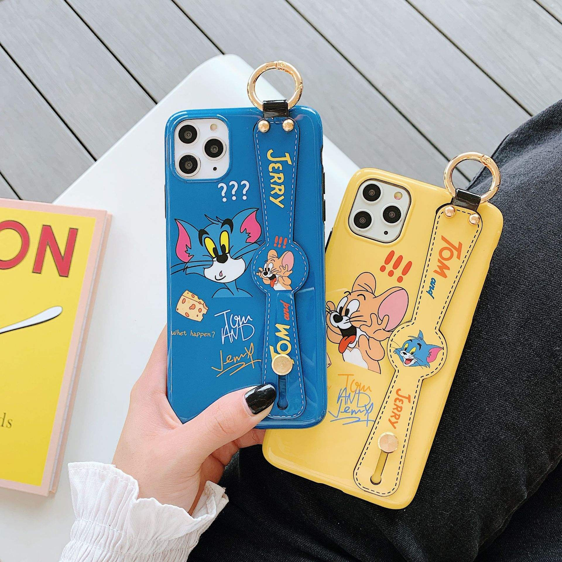 Wristband Tom and Jerry for iphone 11 Pro Max Apple 7 8 plus XS mobile phone case