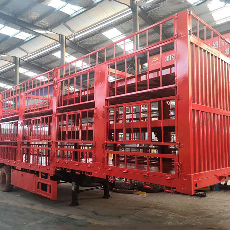 Factory 40Tons Livestock Trailer/Stake Trailer/Animal Transport Fence Semi Trailer For Sale