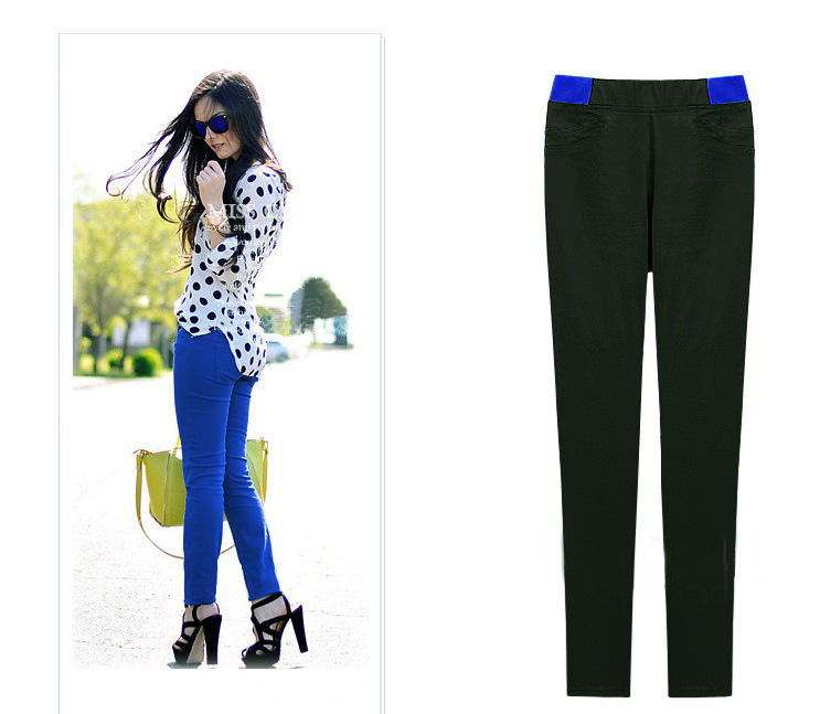 Women spring pants small feet cotton stretchable pencil pants YF80119