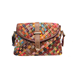 Womens Multicolor Knitted handbag Boston Bag Genuine Leather Colorful Shoulder Bag Small Crossbody Mini Patchwork