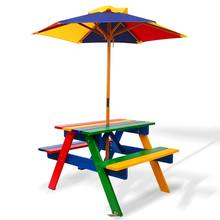 Factory hot sale outdoor wooden children kids picnic table