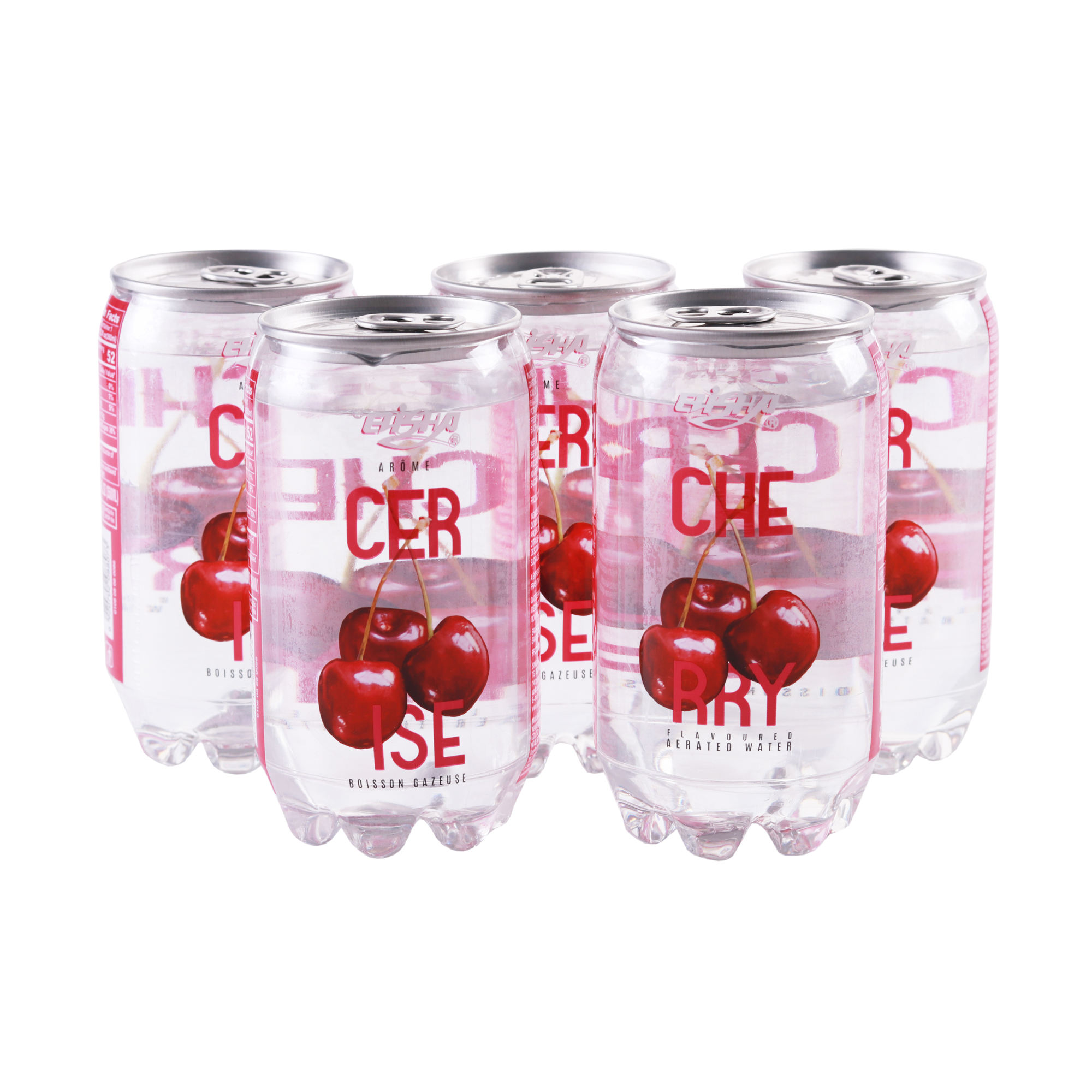 Cherry Flavour Carbonated Beverage Soda Sparkling Bubble Water