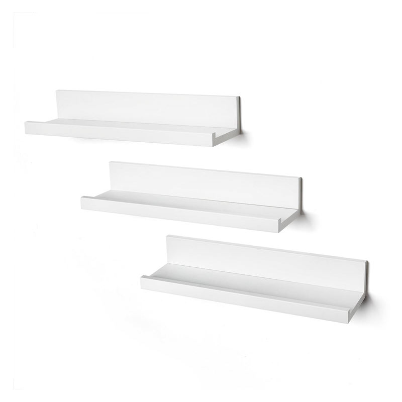 2020 high quality cheap Set of 3 floating wood modern wall shelf design