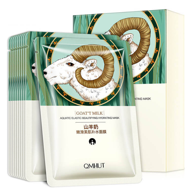 Private Label Goat Milk Face Mask Sheet OEM Korean Organic AntiアンチエイジングAnti Wrinkle Facial Mask