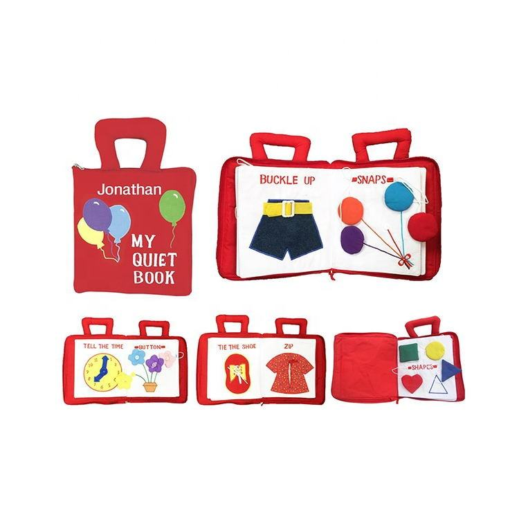 Baby Educational binding fabric soft cloth quiet book toy