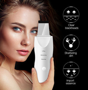 Ultrasonic Face Skin Scrubber USB Rechargeable Facial Cleaner Vibration Blackhead Removal Exfoliating Pore Cleaner Skin Scrubber