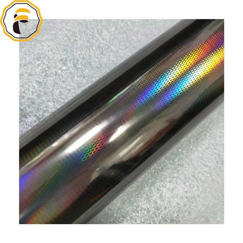 1 Roll Small Size 8 cm * 120 m Rainbow Fish Scales Hot Stamping Foil For Fishing Lure Holographic Foil