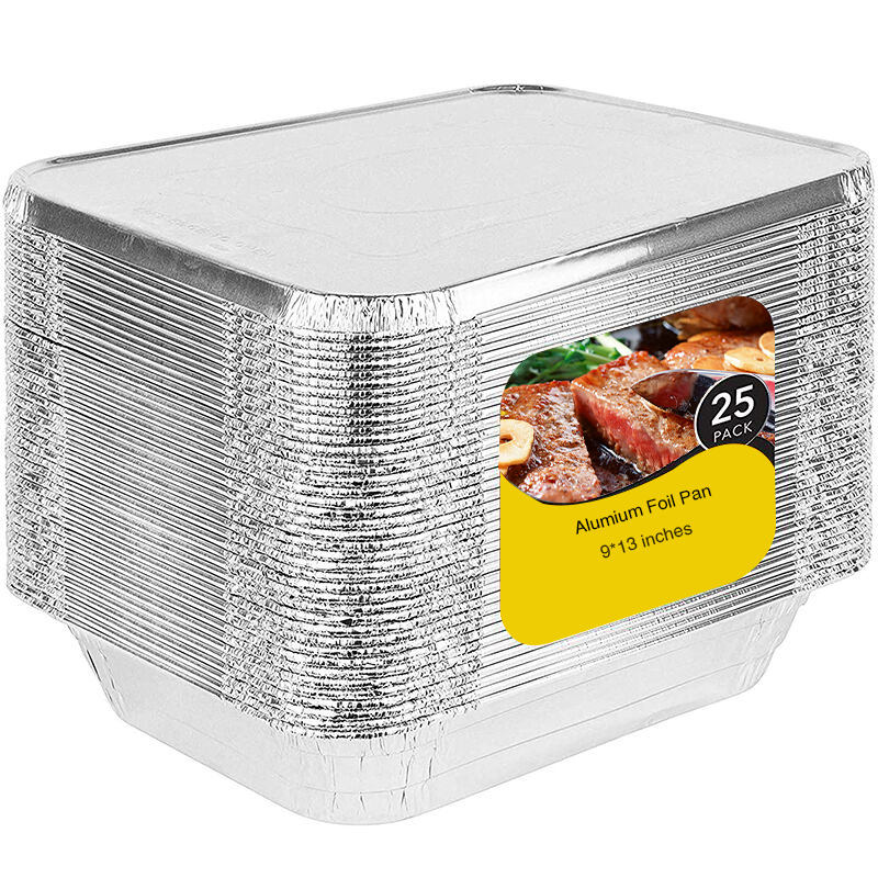 9x13 Half Size Foil Pans With Lids 10pack 20pack 25pack 50pack Disposable Rectangle Round Aluminum Foil Food Containers Trays