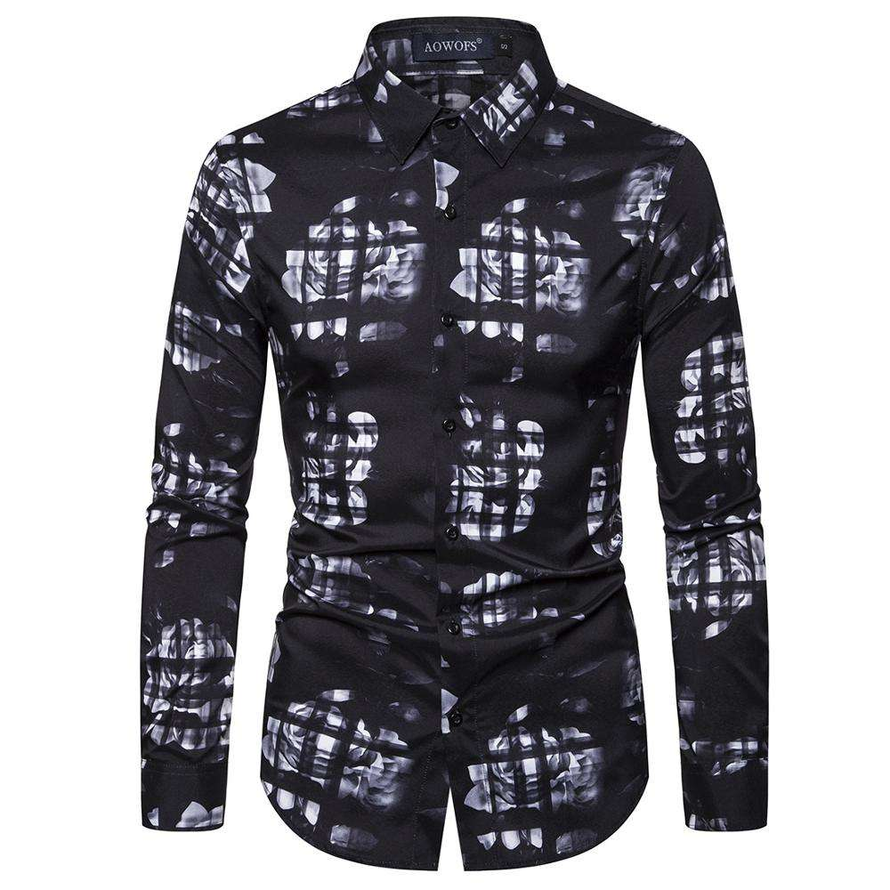 Digital Printed Large Size Shirt, New Men's Long Sleeve Shirt