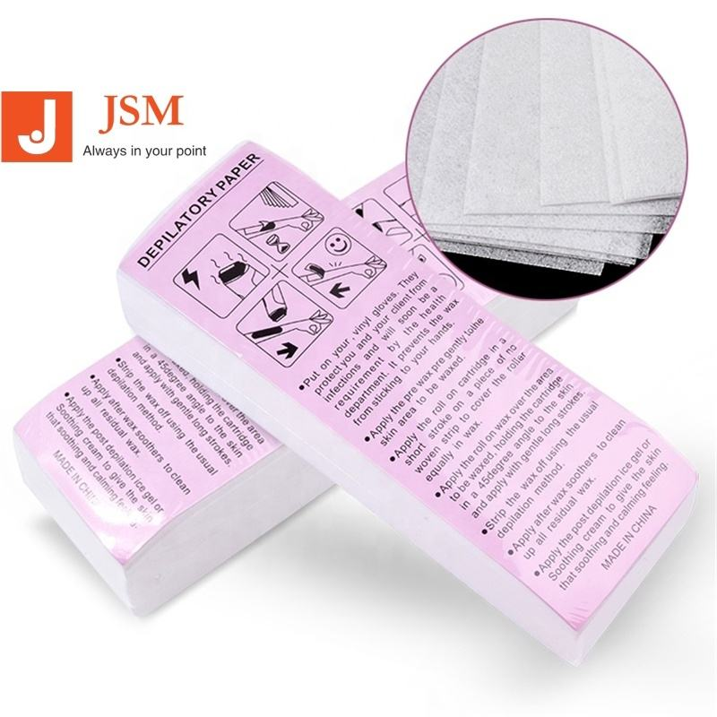 100 sheet/pack Wholesale Nonwoven Depilatory Paper Disposable Wax Strip Hair Removal Depilatory Paper
