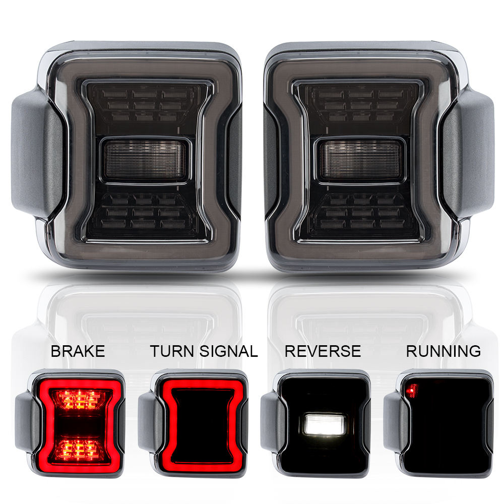 Smoke LED Taillights for Jeep Wrangler JL JLU 2018-2019 US and EU Version available
