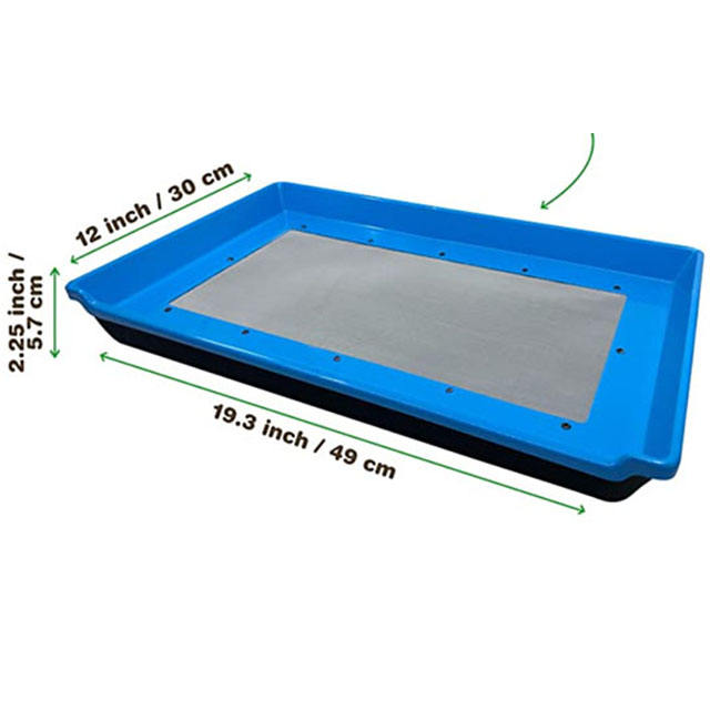 Hot Sale Anti-static ABS Disposable Plastic Tray For pollen trimming tray garden hardvest trim tray herb