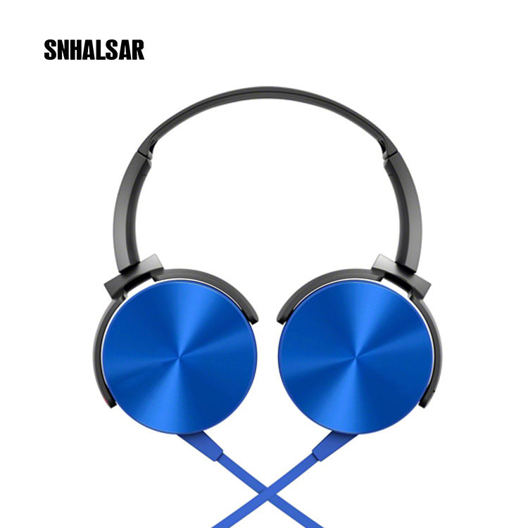SNHALSAR XB450 Cute look ODM cheap mobile custom wired walkman colour headphones for children with logo mic kids headphones