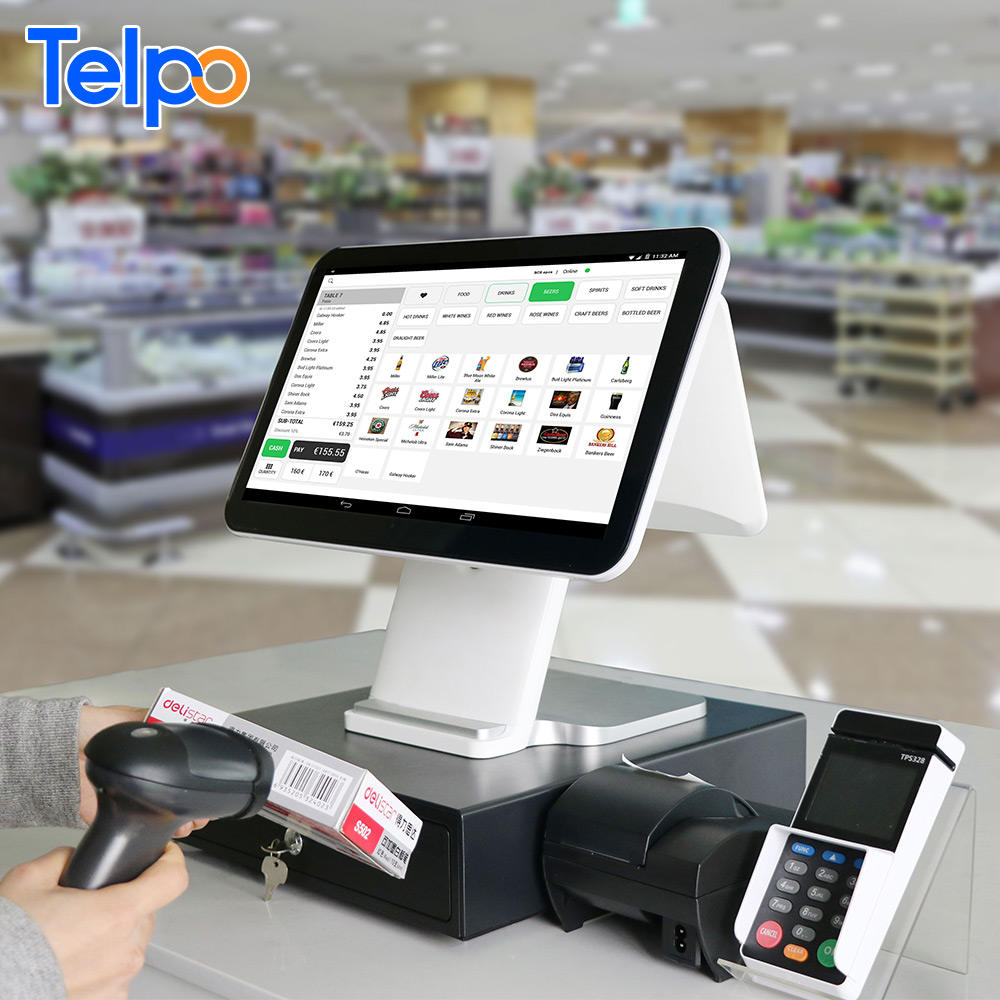 epos 15.6 inch touch screen cashier machine restaurant pos cash register