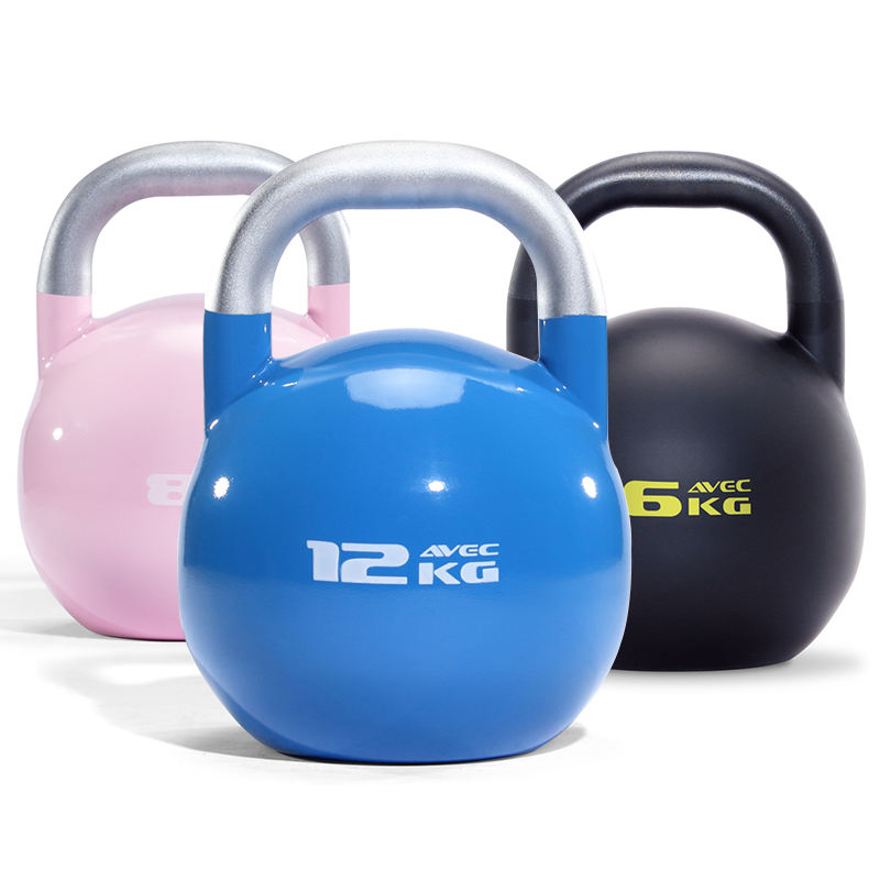 Color Coated Kettlebell Competition Kettlebell Set Handgrip Dumbbell 2-32kg Kettle Bells Set Kettlebell Weights