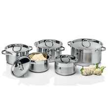 High quality stainless steel cooking pots and pans with stainless steel handle