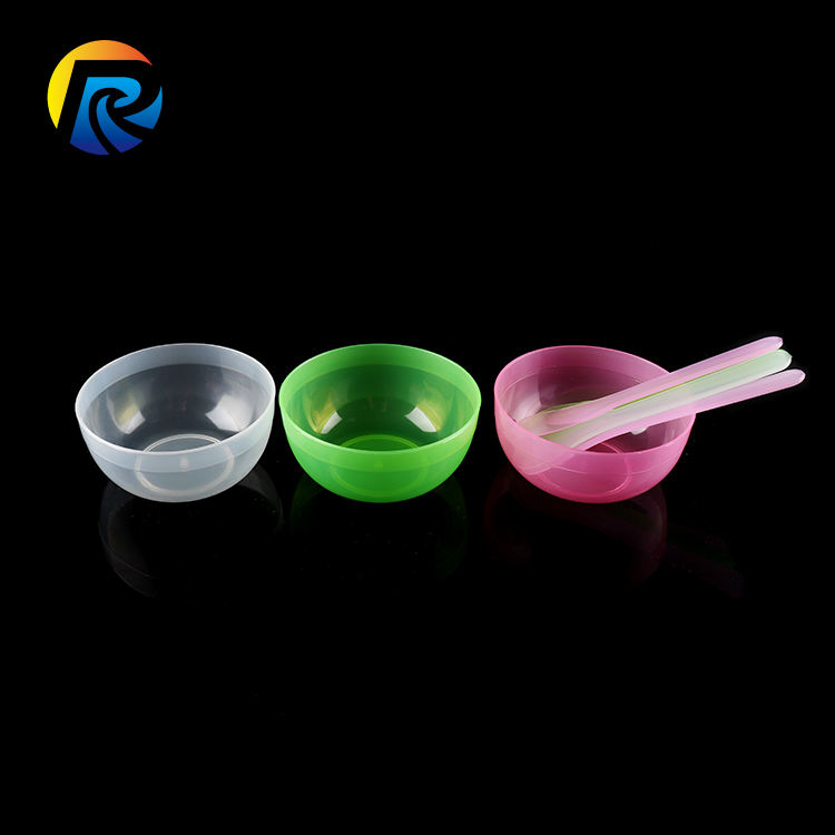 Factory supplier 2 In 1 Skin care DIY Plastic Makeup Facial Face Maskmixing Bowl Set