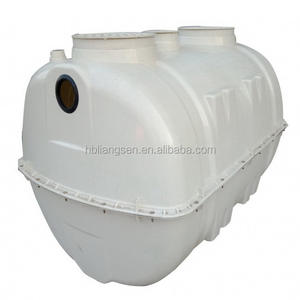 1M3 ISO standard Mini stackable frp septic tank wastewater treatment